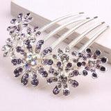 Beautiful Crystal Rhinestone Decorate Petal Tuck Hair Comb Flower Pin Hair Clip - Honeybee Line - 2