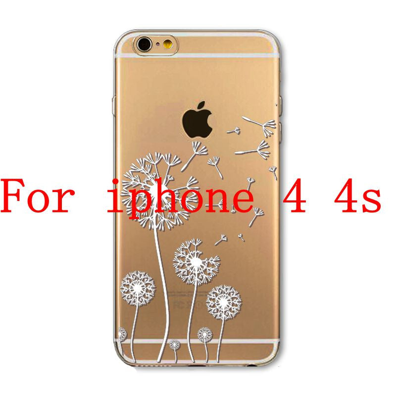 Phone Cases for Apple iPhone 4 4S 5 5S SE 5C 6 6S 6Plus 6s Plus HENNA DREAM CATCHER Ethnic Tribal TPU Silicon Covers Capa Back - Honeybee Line - 25