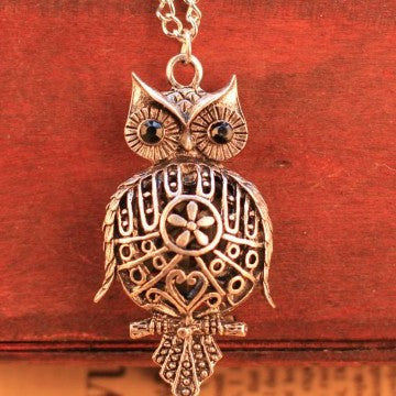 Vintage Owl Chain necklace - Honeybee Line - 1