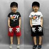 Summer Short Sleeve T-shirt + Shorts Pants Outfits 2pcs - Honeybee Line - 1