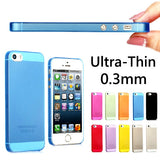 New 0.3mm Slim Ultra Thin Colorful Translucent Design Matte Back Cover phone Case - Honeybee Line - 1