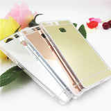Hot saling Fashion Luxury plating Mirror Back Case For Huawei P9 For Huawei P9 lite Electroplating TPU Clear Soft Cover - Honeybee Line