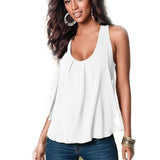 Women's Summer Chiffon Sleeveless Blouse - Honeybee Line - 2