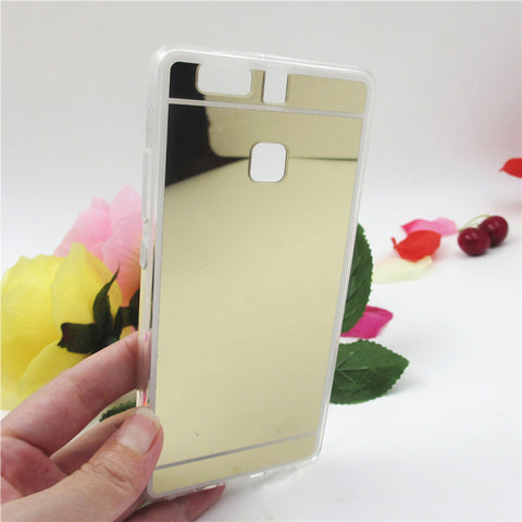 Hot saling Fashion Luxury plating Mirror Back Case For Huawei P9 For Huawei P9 lite Electroplating TPU Clear Soft Cover - Honeybee Line - 3