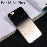 Ultra-thin Creatively 3D rain drop water raindrop hard back cover semi-transparent colorful phone case for iphone 5 SE 6 6S Plus - Honeybee Line - 3