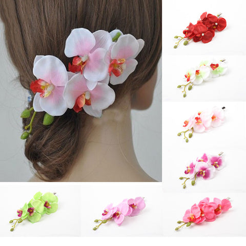 Charming Bridal Hawaii Party Hair Accessories Flower Pattern Ladies Hair Clip Hairpin 7 Colors Headwear-0020 - Honeybee Line