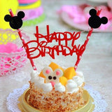 Mickey Mouse Happy Birthday Letter Garland Cake Topper Bunting - Honeybee Line - 1