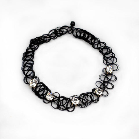 Fashion Handmade Hot Selling Vintage Stretch Tattoo Choker Necklace Gothic Punk Grunge Elastic with Pendant Necklaces collares - Honeybee Line - 2