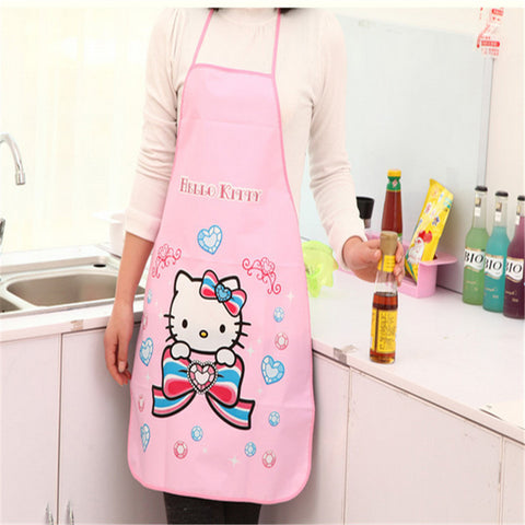 Cartoon Kitchen Bust Apron PVC Waterproof Antifouling Apron Oil Sleeveless Apron OneSize 70*50cm - Honeybee Line