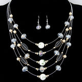 Wild Multilayer Bohemia Beads Choker Gem Crystal Necklace - Honeybee Line - 3