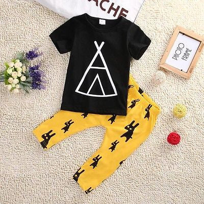 Summer kids clothes sets boy t-shirt+pants suit clothing set Clothes newborn sport suits baby boy clothes children boys clothes - Honeybee Line - 2
