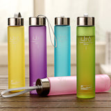Colorful frosted Sports Water Bottle - Honeybee Line