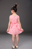 2-7 Years New Summer Cotton & linen Vest Girls Dress - Honeybee Line - 5