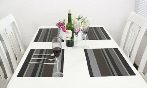 Waterproof Placemats Kitchen Dining Table - Honeybee Line - 5