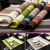 Waterproof Placemats Kitchen Dining Table - Honeybee Line - 1