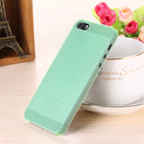 Translucent slim Soft plastic for iPhone Phone case 5 5S - Honeybee Line - 6