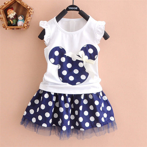 2016 new t shirt +Skirt baby kids suits 2 pcs - Honeybee Line - 1
