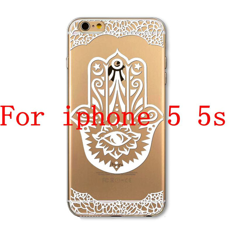 Phone Cases for Apple iPhone 4 4S 5 5S SE 5C 6 6S 6Plus 6s Plus HENNA DREAM CATCHER Ethnic Tribal TPU Silicon Covers Capa Back - Honeybee Line - 23