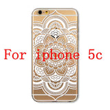 Phone Cases for Apple iPhone 4 4S 5 5S SE 5C 6 6S 6Plus 6s Plus HENNA DREAM CATCHER Ethnic Tribal TPU Silicon Covers Capa Back - Honeybee Line - 20