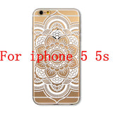 Phone Cases for Apple iPhone 4 4S 5 5S SE 5C 6 6S 6Plus 6s Plus HENNA DREAM CATCHER Ethnic Tribal TPU Silicon Covers Capa Back - Honeybee Line - 22