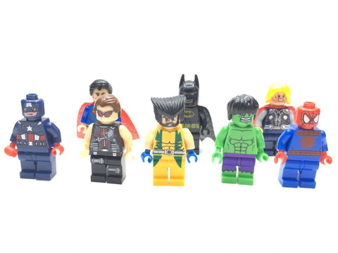 8 Pcs/lot The Avengers Marvel DC Super Heroes Series Action Minifigures Building Block Toys New Kids Gift Compatible With Legoe - Honeybee Line - 1