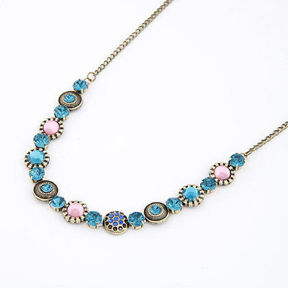 Vintage Women Jewelry Exquisite Gorgeous Cubic Zircon Diamond Collar Bohemia Rhinestone Crystal Gem Necklaces&Pendants  A467 - Honeybee Line - 2