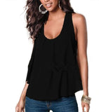 Women's Summer Chiffon Sleeveless Blouse - Honeybee Line - 3