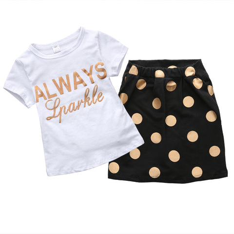 Summer Baby Girls Clothes Polka Dot Shorts 2pcs/set - Honeybee Line