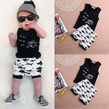 Cotton Sleeveless Vest letter baby boy clothing sets - Honeybee Line