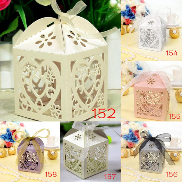 10Pcs/set Love Heart Party  Favors Gifts Candy Boxes - Honeybee Line