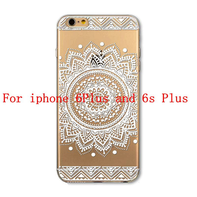 Phone Cases for Apple iPhone 4 4S 5 5S SE 5C 6 6S 6Plus 6s Plus HENNA DREAM CATCHER Ethnic Tribal TPU Silicon Covers Capa Back - Honeybee Line - 17