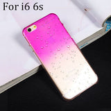 Ultra-thin Creatively 3D rain drop water raindrop hard back cover semi-transparent colorful phone case for iphone 5 SE 6 6S Plus - Honeybee Line - 13