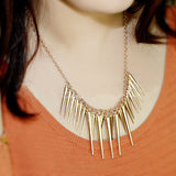 Collier choker long big Vintage feather Necklaces - Honeybee Line