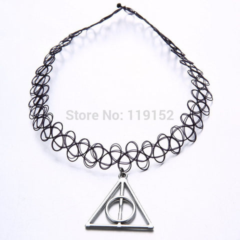 Gothic Punk Grunge Henna Elastic with Pendant Necklaces - Honeybee Line