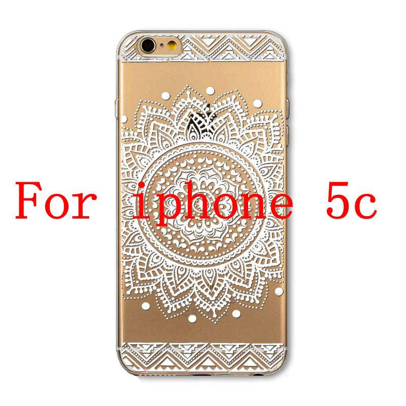 Phone Cases for Apple iPhone 4 4S 5 5S SE 5C 6 6S 6Plus 6s Plus HENNA DREAM CATCHER Ethnic Tribal TPU Silicon Covers Capa Back - Honeybee Line - 8