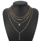 chain necklace multi layer necklaces amp pendants - Honeybee Line - 5