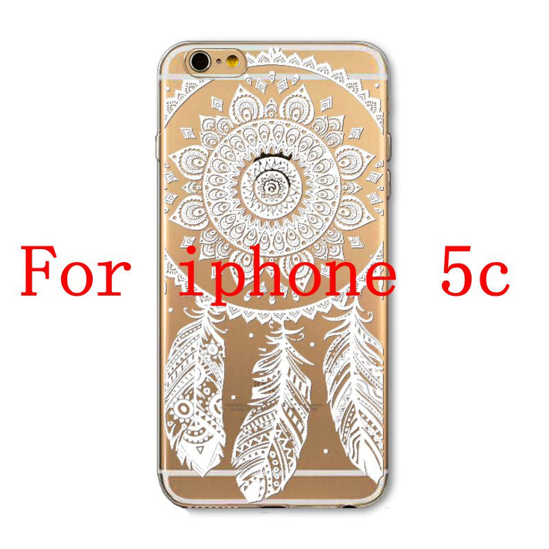 Phone Cases for Apple iPhone 4 4S 5 5S SE 5C 6 6S 6Plus 6s Plus HENNA DREAM CATCHER Ethnic Tribal TPU Silicon Covers Capa Back - Honeybee Line - 10