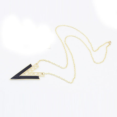 Exaggerated punk personality triangle pendant necklace - Honeybee Line - 2
