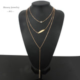 chain necklace multi layer necklaces amp pendants - Honeybee Line - 20