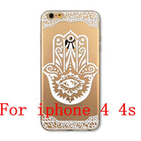 Phone Cases for Apple iPhone 4 4S 5 5S SE 5C 6 6S 6Plus 6s Plus HENNA DREAM CATCHER Ethnic Tribal TPU Silicon Covers Capa Back - Honeybee Line - 3