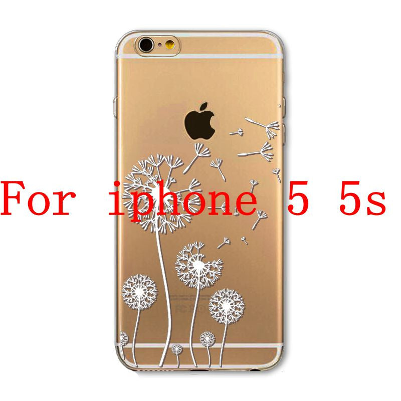 Phone Cases for Apple iPhone 4 4S 5 5S SE 5C 6 6S 6Plus 6s Plus HENNA DREAM CATCHER Ethnic Tribal TPU Silicon Covers Capa Back - Honeybee Line - 2