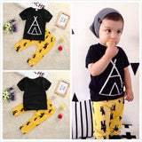 Summer kids clothes sets boy t-shirt+pants suit clothing set Clothes newborn sport suits baby boy clothes children boys clothes - Honeybee Line - 1