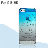 Ultra-thin Creatively 3D rain drop water raindrop hard back cover semi-transparent colorful phone case for iphone 5 SE 6 6S Plus - Honeybee Line - 17