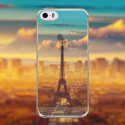 Phone Case Cover for Apple iphone 4 4s Mountain Ocean Eiffel Tower painted Soft Sillicon Transparent TPU Mobile Phone Bags Back - Honeybee Line - 10