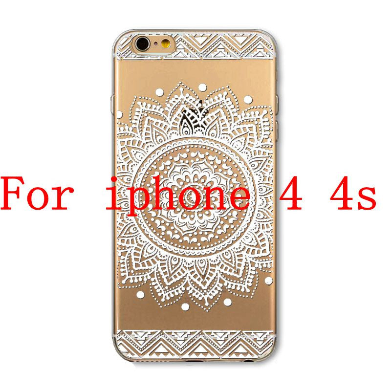 Phone Cases for Apple iPhone 4 4S 5 5S SE 5C 6 6S 6Plus 6s Plus HENNA DREAM CATCHER Ethnic Tribal TPU Silicon Covers Capa Back - Honeybee Line - 4
