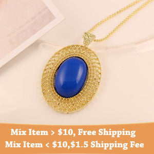 Promotions Fashion Elegant Gold-plated ChainHollow metal pattern gem pendant necklace statement jewelry for women 2014 PD23 - Honeybee Line - 6