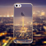 Phone Case Cover for Apple iphone 4 4s Mountain Ocean Eiffel Tower painted Soft Sillicon Transparent TPU Mobile Phone Bags Back - Honeybee Line - 26