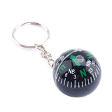 Ball Compass Keychain Liquid Filled Compass For Hiking Camping - Honeybee Line