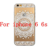 Phone Cases for Apple iPhone 4 4S 5 5S SE 5C 6 6S 6Plus 6s Plus HENNA DREAM CATCHER Ethnic Tribal TPU Silicon Covers Capa Back - Honeybee Line - 7