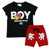 Summer Short Sleeve T-shirt + Shorts Pants Outfits 2pcs - Honeybee Line - 2